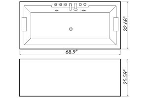 Whirlpool bath BL-511U Beauty Luxury