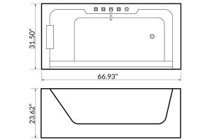 Whirlpool bath BL-531U Beauty Luxury